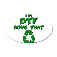 DTF recycle Wall Decal