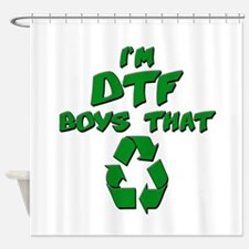 DTF recycle Shower Curtain