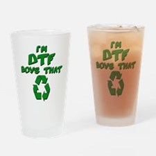 DTF recycle Drinking Glass