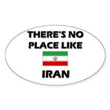 There Is No Place Like Iran Oval Decal