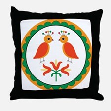 Double Distlefink Throw Pillow