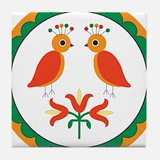 Double Distlefink Tile Coaster