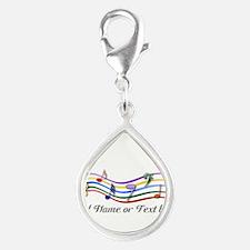 design Silver Teardrop Charm