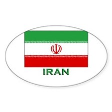 Iran Flag Merchandise Oval Decal