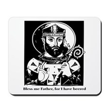 St. Arnulf the patron saint of beer Mousepad