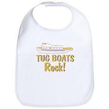 Tug Boats Rock Bib