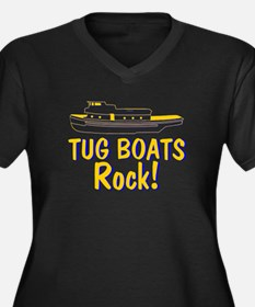 Tug Boats Rock Women's Plus Size V-Neck Dark T-Shi