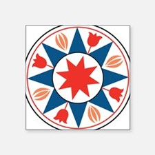 "Eight Pointed Star Square Sticker 3"" x 3"""