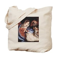 Jesus in the Manger Tote Bag