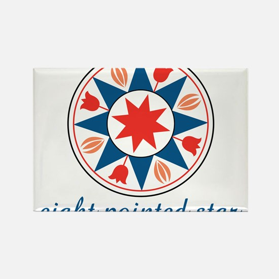 Eight Pointed Star Rectangle Magnet
