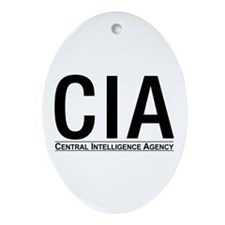 CIA CIA CIA Oval Ornament
