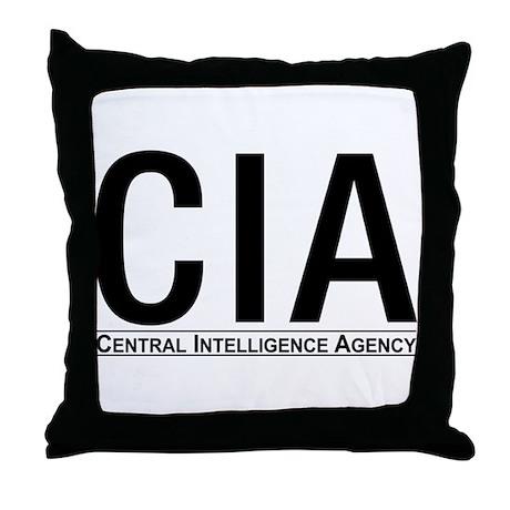 CIA CIA CIA Throw Pillow