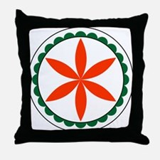 Rosette Hex Sign Throw Pillow