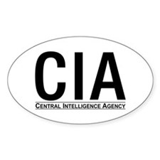 CIA CIA CIA Oval Decal
