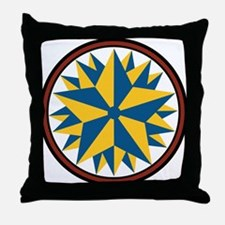 Triple Star Hex Throw Pillow