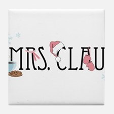 Mrs. Claus Tile Coaster