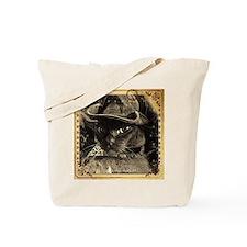 Cowboy Cat, 4, sepia fancy Tote Bag