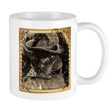 Cowboy Cat, 4, sepia fancy Mug