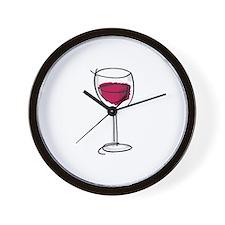 Glass Of Wine Wall Clock