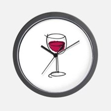 Glass Of Wine Wall Clock