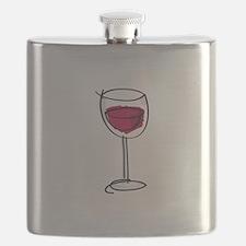 Glass Of Wine Flask