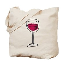 Glass Of Wine Tote Bag