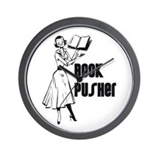 LIBRARIAN / LOCAL BOOK PUSHER Wall Clock