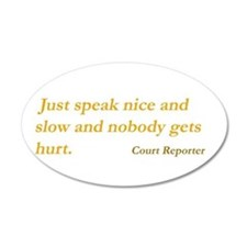 Funny Court reporter Wall Decal
