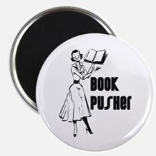 """LIBRARIAN / LOCAL BOOK PUSHER 2.25"""" Magnet (10 pac"""