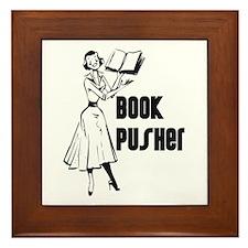 LIBRARIAN / LOCAL BOOK PUSHER Framed Tile