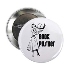 LIBRARIAN / LOCAL BOOK PUSHER Button
