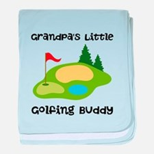 Personalized Golfing Buddy baby blanket
