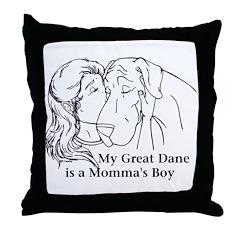 Momma's Boy Throw Pillow