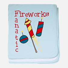 Fireworks Fanatic baby blanket