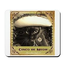 Cinco de Meow, sepia, fancy Mousepad