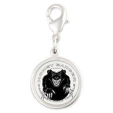 Honey badger Silver Round Charm