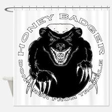 Honey badger Shower Curtain