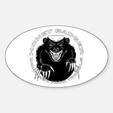 Honey badger Sticker (Oval)