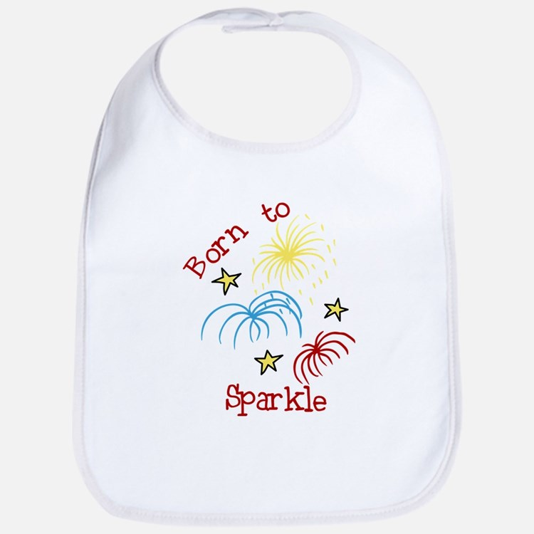 Born To Sparkle Bib