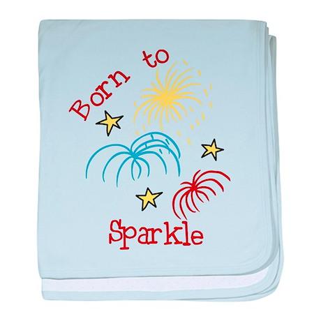 Born To Sparkle baby blanket
