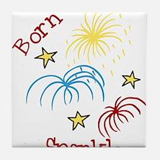 Born To Sparkle Tile Coaster