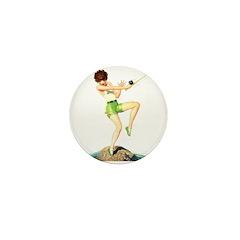 Gone Fishing Mini Button (100 pack)