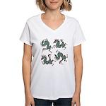 Deer in the Vineyard Women's V-Neck T-Shirt