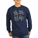 Deer in the Vineyard Long Sleeve Dark T-Shirt