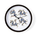 Deer in the Vineyard Wall Clock