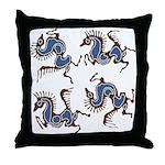 Deer in the Vineyard Throw Pillow