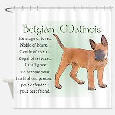 Belgian Malinois Shower Curtain