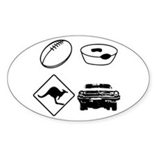 Football, Meat Pies, Kangaroo Oval Decal