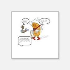 "The murder of the Twinkie Square Sticker 3"" x 3"""