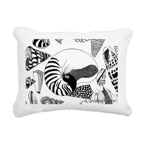 Nautilus shell/shells Rectangular Canvas Pillow